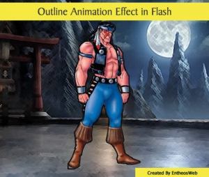 Outline Animation Effect in Flash